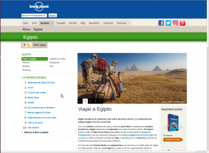 Enlaces Screenshot Lonely Planet
